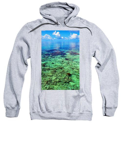 Coral Reef Near The Island At Peaceful Day. Maldives Sweatshirt