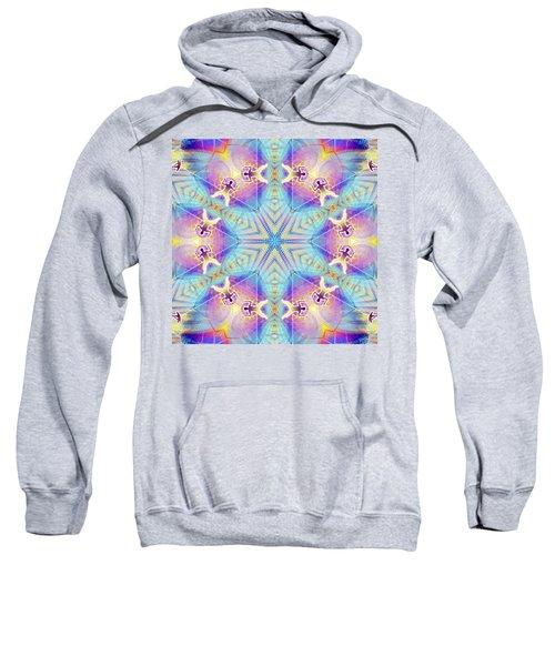 Cosmic Spiral Kaleidoscope 17 Sweatshirt