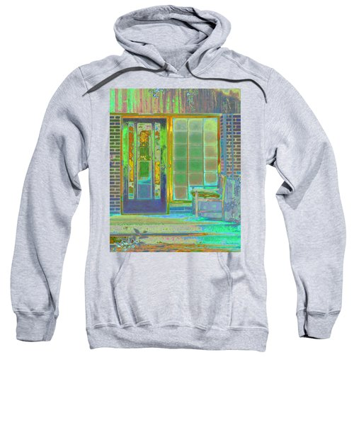 Sweatshirt featuring the photograph Cottage Porch by Don and Judi Hall