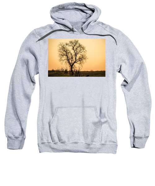 Country Fence Sunset Sweatshirt