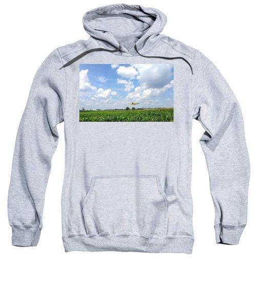 Yellow Crop Duster Sweatshirt