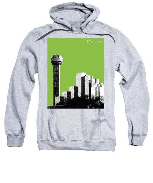 Dallas Skyline Reunion Tower - Olive Sweatshirt
