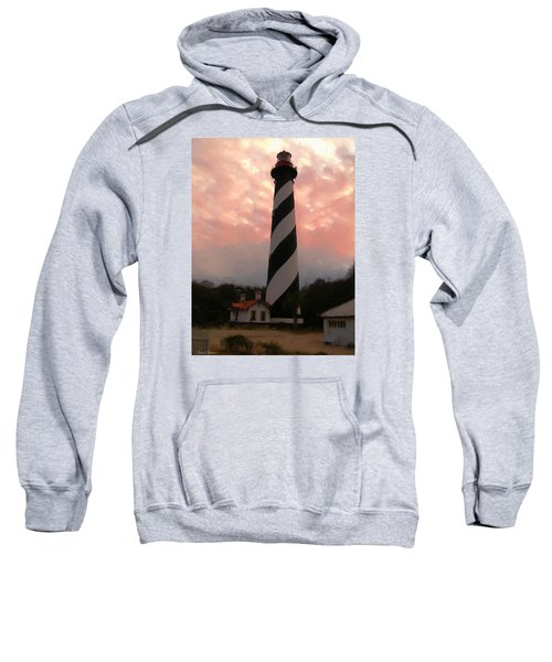 Da127 St. Augustine Lighthouse By Daniel Adams Sweatshirt