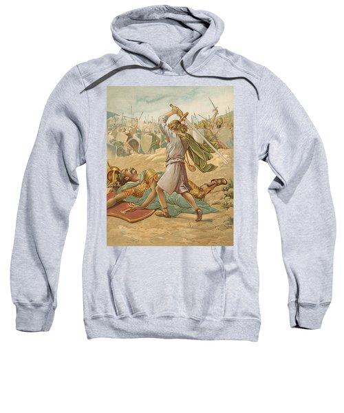 David About To Slay Goliath Sweatshirt