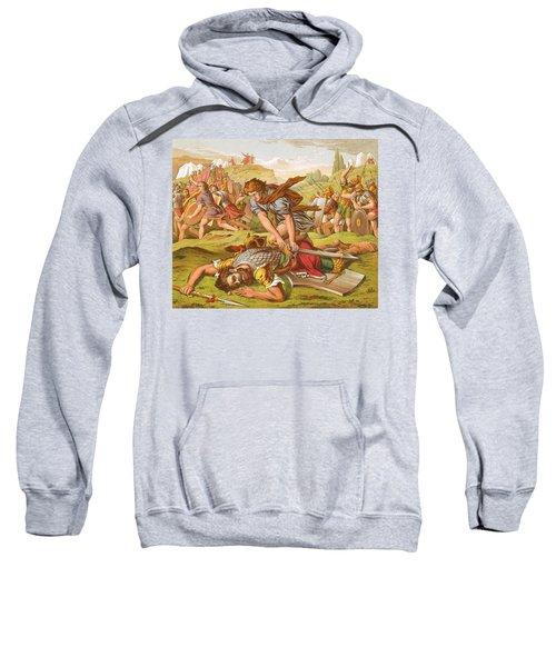 David Slaying The Giant Goliath Sweatshirt