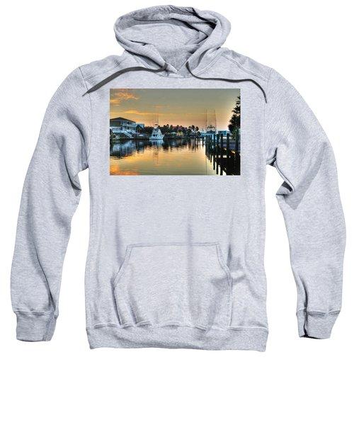 Dawn On A Orange Beach Canal Sweatshirt