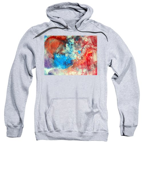 Decalcomaniac Colorfield Abstraction Without Number Sweatshirt