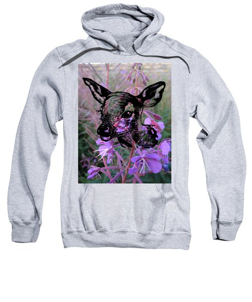 Deer On Flower Sweatshirt