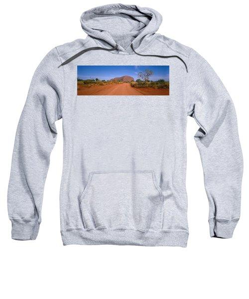 Desert Road And Ayers Rock, Australia Sweatshirt