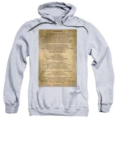 Desiderata - Scrubbed Metal Sweatshirt