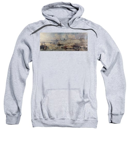 Design For The Thames Embankment Sweatshirt by Thomas Allom