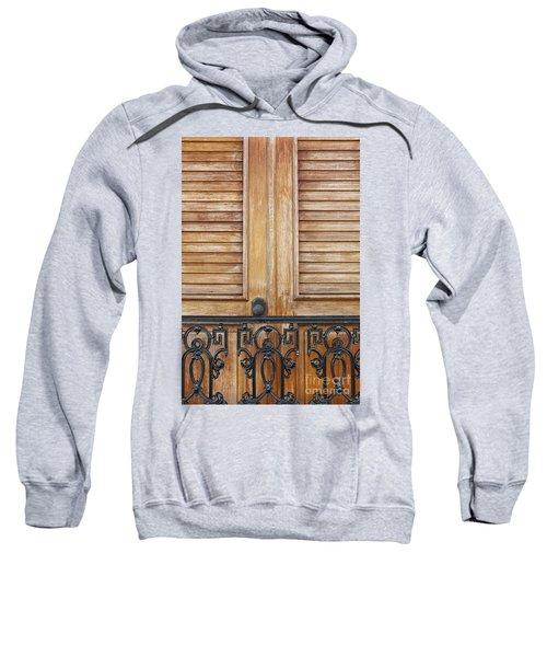 Detail Of Wooden Door And Wrought Iron In Old San Juan Puerto Ric Sweatshirt