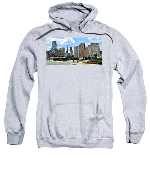Detroit As Seen From Comerica Sweatshirt