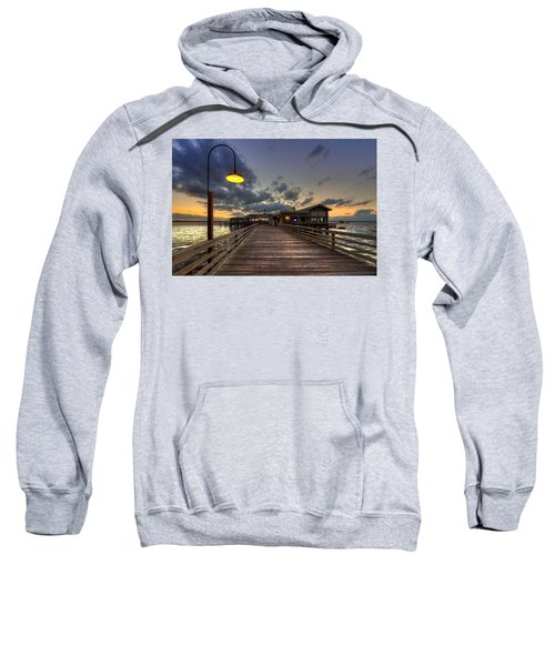 Dock Lights At Jekyll Island Sweatshirt