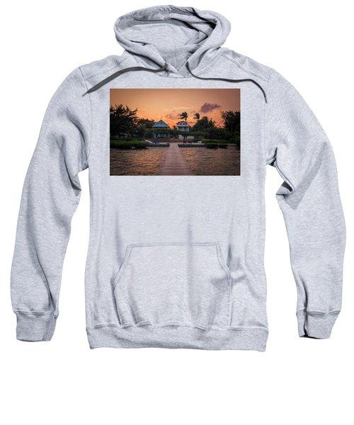 Dockside Sunset In Belize Sweatshirt