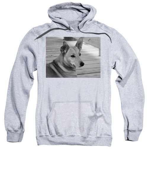 Dog In Black And White One Sweatshirt