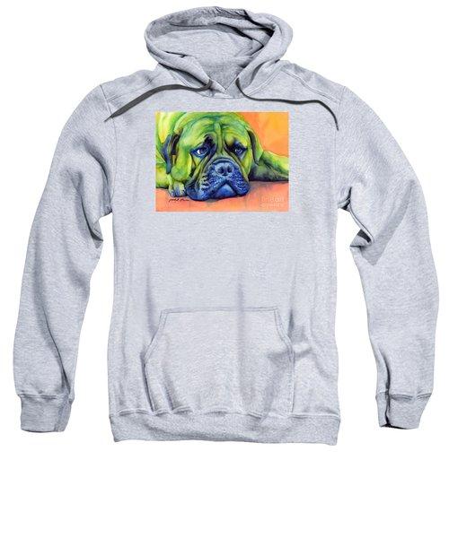Dog Tired Sweatshirt by Hailey E Herrera
