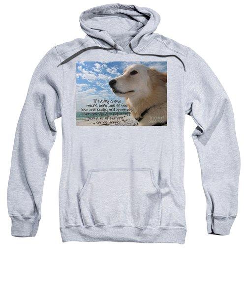 Doggie Soul Sweatshirt by Peggy Hughes