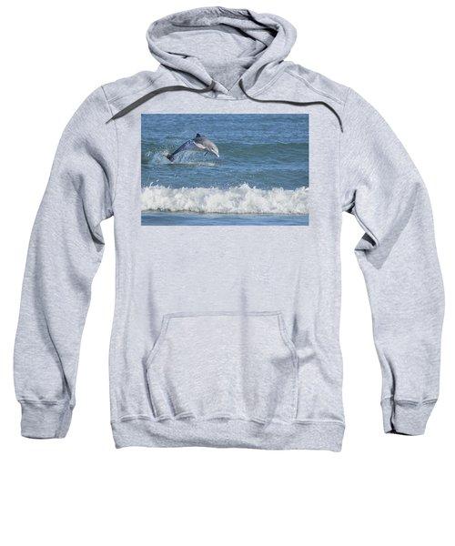 Dolphin In Surf Sweatshirt