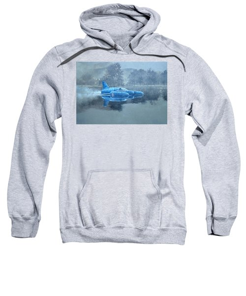 Donald Campbell And Bluebird Oil On Canvas Sweatshirt