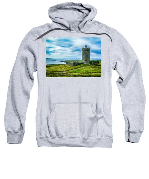 Sweatshirt featuring the photograph Doonagore Castle In Ireland's County Clare by James Truett