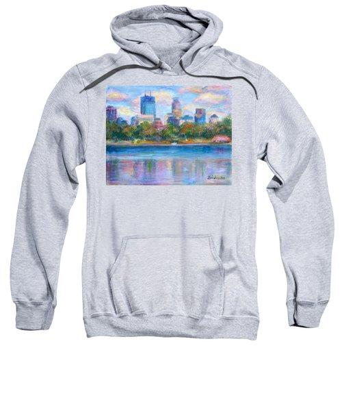 Downtown Minneapolis Skyline From Lake Calhoun Sweatshirt