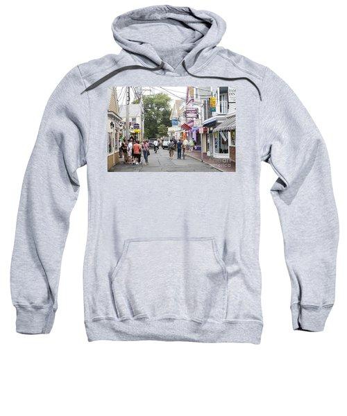 Downtown Scene In Provincetown On Cape Cod In Massachusetts Sweatshirt