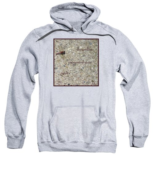 Sweatshirt featuring the photograph Dragonflies Haiga by Judi and Don Hall