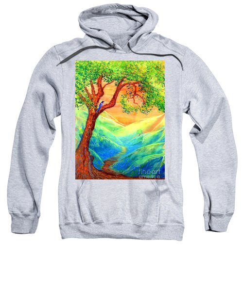 Dreaming Of Bluebells Sweatshirt by Jane Small