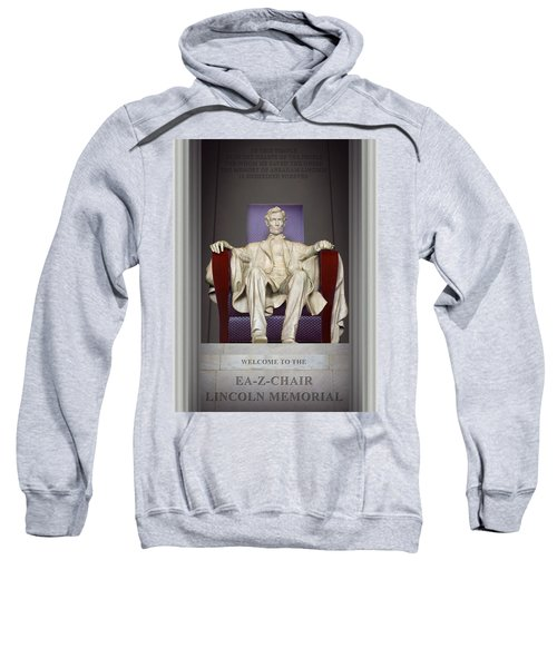 Ea-z-chair Lincoln Memorial 2 Sweatshirt by Mike McGlothlen