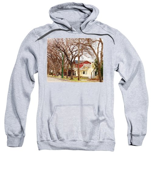 Early Spring Street Sweatshirt by Donald S Hall