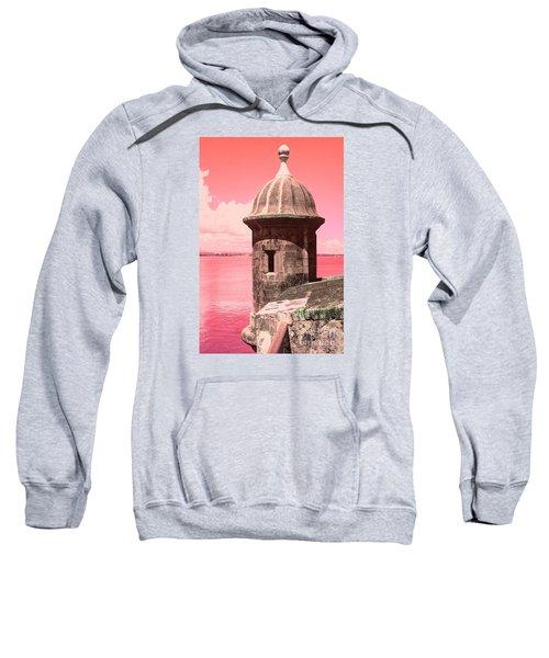 El Morro In The Pink Sweatshirt