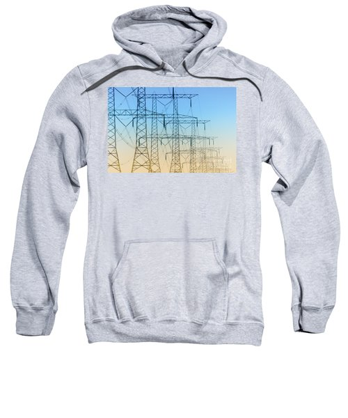 Electricity Pylons Standing In A Row Sweatshirt