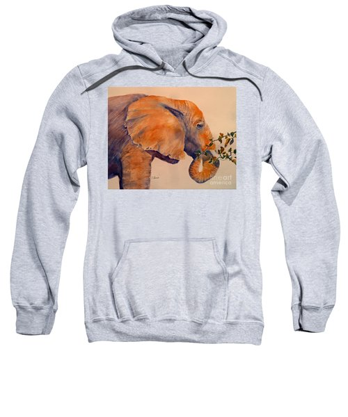 Elephant Eating Sweatshirt