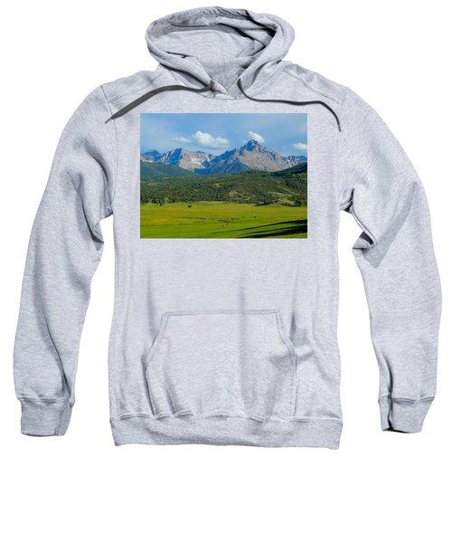 Elk Below Mount Sneffels Sweatshirt
