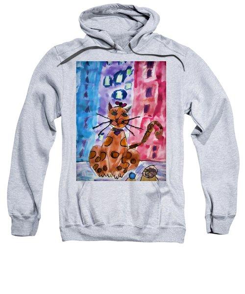 Emma's Spotted Kitty Sweatshirt
