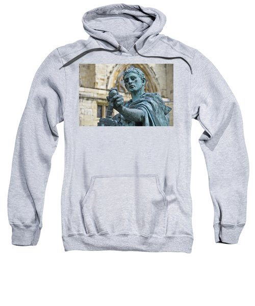 Sweatshirt featuring the photograph Emperor Constantine by Ross G Strachan