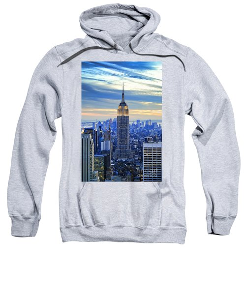 Empire State Building New York City Usa Sweatshirt by Sabine Jacobs