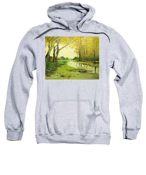 Fall By The Stream By Merlin Reynolds Sweatshirt