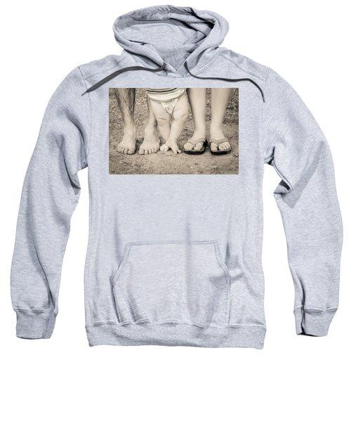 Family Feets Sweatshirt by Bill Pevlor