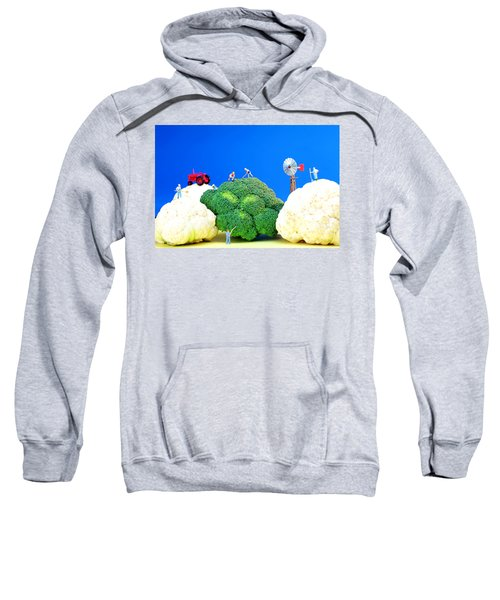 Farming On Broccoli And Cauliflower Sweatshirt by Paul Ge