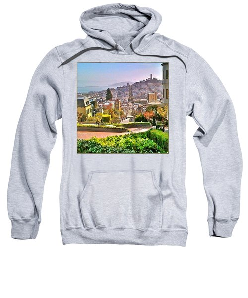 Favorite Places Lombard Street San Francisco California Sweatshirt by Anna Porter