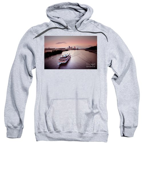 Ferry Boat At The Point In Pittsburgh Pa Sweatshirt