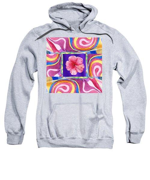 Festive Floral Hibiscus  Sweatshirt