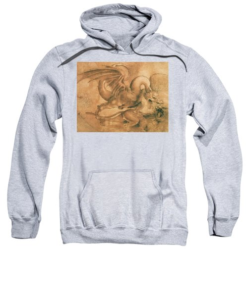 Fight Between A Dragon And A Lion Sweatshirt