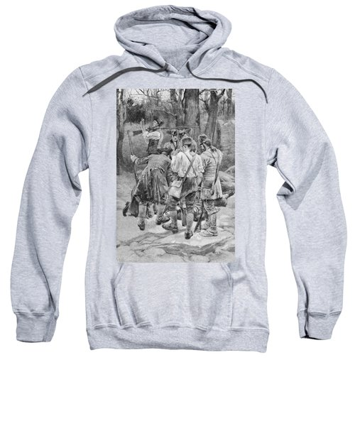 Finding The Body Of One Of Their Companions, Scalped And Horribly Mangled, Engraved By F.h Sweatshirt