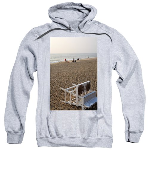 First On The Beach At Bethany Beach In Delaware Sweatshirt