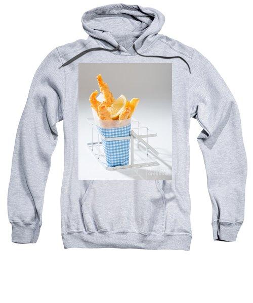 Fish And Chips Sweatshirt by Amanda Elwell