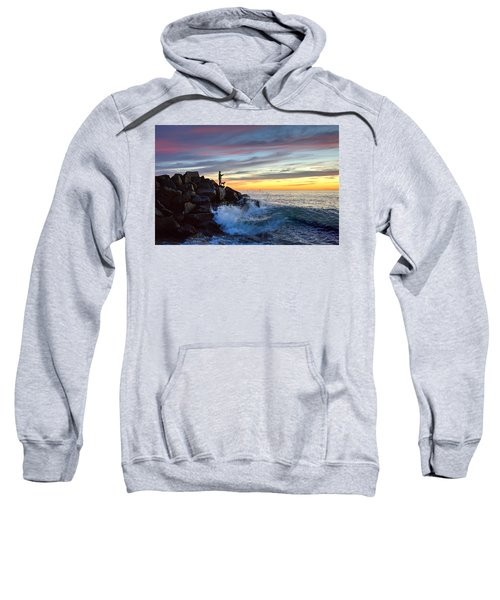 Fishing At Sunset Sweatshirt