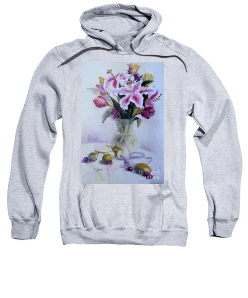 Flower Bouquet With Teapot And Fruit Sweatshirt